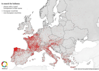 Search, Europa, and Name: In search for holiness  places with a 'saint  component in their name  European countries  non-European countries  BIQdata.pl  źród: National Geospatial-Intelligence Agency <p>  Lugares de Europa con nombres de santos.  <br/></p><p>En Galicia y Francia&hellip; SANPASAO con los nombres</p>
