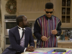 In Season 2 Episode 16 of the Fresh Prince of Bel-Air, this was the moment Will Smith decided to pick up the mantle as J in the Men in Black. He decides to wipe the memory of the cast to move on to hunting rouge aliens.: In Season 2 Episode 16 of the Fresh Prince of Bel-Air, this was the moment Will Smith decided to pick up the mantle as J in the Men in Black. He decides to wipe the memory of the cast to move on to hunting rouge aliens.