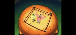 """In season 2, episode 19 of Spongebob Squarepants (2001), Patrick says, """"my name's not Rick,"""" a reference to my favorite tv show, Rick and Morty.: In season 2, episode 19 of Spongebob Squarepants (2001), Patrick says, """"my name's not Rick,"""" a reference to my favorite tv show, Rick and Morty."""