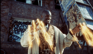 In Shazam! (2019), the lead character shoots lightning from his fingers. Oh wait, It's wrong movie. It's actually Kazaam.: In Shazam! (2019), the lead character shoots lightning from his fingers. Oh wait, It's wrong movie. It's actually Kazaam.