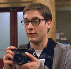 """In Spider-Man (2002), the movie begins with Peter Parker (Tobey Maguire) narrating """"If someone told you I was your average ordinary guy, not a care in the world, somebody lied"""". This is true because he has a condition where instead of looking like a 17/18 year old, he looks like 25/26.: In Spider-Man (2002), the movie begins with Peter Parker (Tobey Maguire) narrating """"If someone told you I was your average ordinary guy, not a care in the world, somebody lied"""". This is true because he has a condition where instead of looking like a 17/18 year old, he looks like 25/26."""