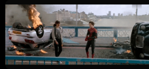 In Spider-Man: Far From Home (2019), the license plate 'TASM 143' is a reference to The Amazing Spider-Man comic issue 143 in which Peter Parker and MJ also shared their first kiss.: In Spider-Man: Far From Home (2019), the license plate 'TASM 143' is a reference to The Amazing Spider-Man comic issue 143 in which Peter Parker and MJ also shared their first kiss.