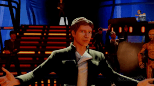 Empire, Han Solo, and Star Wars: In Star Wars: Episode V The Empire Strikes Back, Han Solo challenges Lando Calrissian to a dance-off. This is a reference to the fact that I was actually playing the greatest Star Wars video game, Kinect Star Wars.