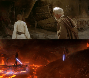 In Star Wars Revenge Of The Sith Obi Wan Says It S Over Anakin I Have The High Ground This Is A Callback To Obi Wan S Line From A New Hope That Only