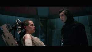 In Star Wars: The Force Awakens(2015), Kylo is developing a sexual crush on Rey while interrogating her.: In Star Wars: The Force Awakens(2015), Kylo is developing a sexual crush on Rey while interrogating her.