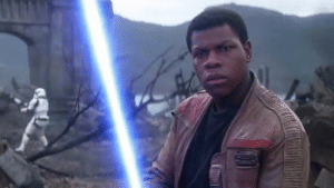 In Star Wars: the force awakens Finn kills a stormtrooper this is a mistake because Finn used to be a stormtrooper and they can't hit shit: In Star Wars: the force awakens Finn kills a stormtrooper this is a mistake because Finn used to be a stormtrooper and they can't hit shit