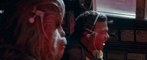 In Star Wars: The Rise of Skywalker Chewy and Lando can be seen with wired earphones. This explains why Lando wasn't present in the last two movies as Rey refused to be seen with anyone not wearing AirPods.: In Star Wars: The Rise of Skywalker Chewy and Lando can be seen with wired earphones. This explains why Lando wasn't present in the last two movies as Rey refused to be seen with anyone not wearing AirPods.