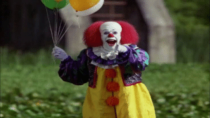 "Stephen, Alien, and Earth: In Stephen King's ""IT"", Pennywise is an alien that crash landed on Earth billions of years ago. This event took place long before Sir Isaac Newton discovered gravity as gravity without it would just be gravy. (sources in comments)"