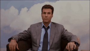 In Stranger than Fiction (2006) when Harold is thinking of Ana during his visit to HR, the cloud painting behind him begins to move, indicating his head's in the clouds: In Stranger than Fiction (2006) when Harold is thinking of Ana during his visit to HR, the cloud painting behind him begins to move, indicating his head's in the clouds