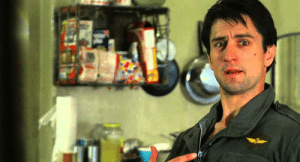 """In taxi driver (1976) de Niro said the now famous line: """"you talking to me?"""" This is a reference to my grandma who can't hear shit. Step it up granny: In taxi driver (1976) de Niro said the now famous line: """"you talking to me?"""" This is a reference to my grandma who can't hear shit. Step it up granny"""