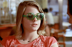 In Taxi Driver (1976), when Iris and Travis meet for breakfast, Iris is seen wearing 3 different glasses. At first, this may seem like an error in wardrobe or continuity, but rather, it was due to one specific line being removed from the final cut (explanation in comments): In Taxi Driver (1976), when Iris and Travis meet for breakfast, Iris is seen wearing 3 different glasses. At first, this may seem like an error in wardrobe or continuity, but rather, it was due to one specific line being removed from the final cut (explanation in comments)