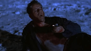 """In that scene of Die Hard 2: Die Harder (1990), Bruce Willis's lips are saying """"Yippee ki yay, mother fucker"""". They re-recorded it to make him say """"Mr. Falcon"""": In that scene of Die Hard 2: Die Harder (1990), Bruce Willis's lips are saying """"Yippee ki yay, mother fucker"""". They re-recorded it to make him say """"Mr. Falcon"""""""