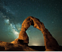 Memes, Period, and Formation: In the 1950s, the National Park Service wanted to cover the Delicate Arch in a clear plastic coating. Why the plastic coating? Well, the NPS thought that the arch was so beautiful that they wanted to protect it from erosion. The thing is, the Delicate Arch was created by erosion in the first place! This freestanding, naturally-formed arch is 65 feet (20 meters) tall and part of the Entrada Sandstone formation. Deposited during the Jurassic period (between 180 and 140 million years ago), the Delicate Arch was originally in the shape of a fin, which was worn away over time by erosion and weathering. Fun fact: The Delicate Arch is featured on Utah license plates!
