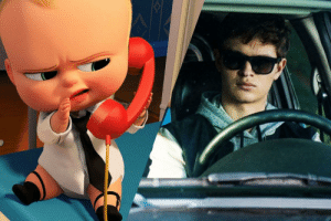 Movie, Downhill, and Baby: In the 2017 movie Baby Driver, sequel to the 2017 movie Boss Baby, we get to see Baby becoming a driver and having to grow up real quick, which shows how quick the economy went downhill in 2017.