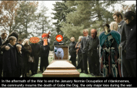 Community, Death, and Normie: In the aftermath of the War to end the January Normie Occupation of r/dankmemes,  the community mourns the death of Gabe the Dog, the only major loss during the war. <p>Sleep Well Pupper</p>
