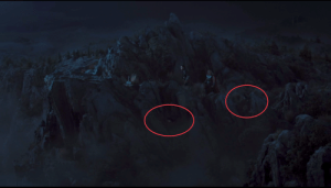 In 'The Avengers' (2012) when Thor is interrogating Loki, two ravens can be seen flying by. In norse mythology Odin has two ravens, Huginn and Muninn, who watch over the realms and informs Odin about what happens.: In 'The Avengers' (2012) when Thor is interrogating Loki, two ravens can be seen flying by. In norse mythology Odin has two ravens, Huginn and Muninn, who watch over the realms and informs Odin about what happens.