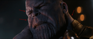 In the Avengers Infinity War, Thanos has human hair on his body.: In the Avengers Infinity War, Thanos has human hair on his body.