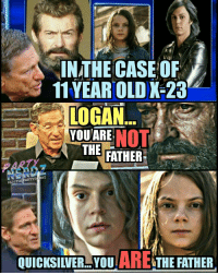 IN THE CASE OF  11YEAR OLD X 23  LOGAN  YOU ARE  NOT  THE  FATHER  IGI@THePARTYneRDZ  ARE  QUICKSILVER YOU  THE FATHER 😂😂😂 Yooooo... They look EXACTLY alike!! Well Peter...Now Logan is gone, you're gonna have to step up to the plate! x23 logan quicksilver xmen marvel wolverine petermaximoff professorx movies maury youarethefather lol partynerdz riplogan hughjackmen jerryspringer cyclops twinning