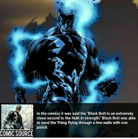 "Damn, I didn't think he was that strong ________________________________________________________ BlackBolt Ironman BlackWidow Avengers Marvel Hulk Spiderman BlackPanther MCU Venom Hawkeye SpidermanHomecoming DarthVader Thor CaptainAmerica StarWars Deadpool Like CivilWar Antman quicksilver Like4Like Facts Comics Lukecage Daredevil Marvel CW Disney DCComics: In the comics it was said the ""Black Bolt Is an extremely  close second to the Hulk in strength. Black Bolt was able  to send the Thing flying through a few walls with one  punch  COMIC SOURCE Damn, I didn't think he was that strong ________________________________________________________ BlackBolt Ironman BlackWidow Avengers Marvel Hulk Spiderman BlackPanther MCU Venom Hawkeye SpidermanHomecoming DarthVader Thor CaptainAmerica StarWars Deadpool Like CivilWar Antman quicksilver Like4Like Facts Comics Lukecage Daredevil Marvel CW Disney DCComics"