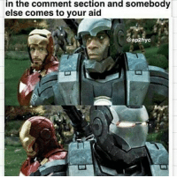 Family, Memes, and Wolverine: in the comment section and somebody  else comes to your aid  ap2hyc From @ap2hyc - Thanks to my troopers who got my back like War Machine in the comments section! We are family we gotta stick together marvel marveluniverse marvelfans marvelcomics comics comicbooks avengers ironman captainamerica thor hulk spiderman peterparker civilwar captainamericawintersoldier wolverine xmen deadpool blackwidow hawkeye wintersoldier antman blackpanther warmachine scarletwitch logan x23