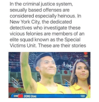 New York, Squad, and These Are Their Stories: In the criminal justice system,  sexually based offenses are  considered especially heinous. In  New York City, the dedicated  detectives who investigate these  vicious felonies are members of an  elite squad known as the Special  Victims Unit. These are their stories  CHNDONG DONG
