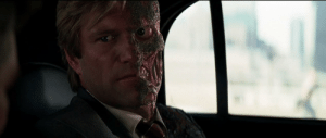 """In The Dark Knight (2008), Aaron Eckhart owed Christopher Nolan money but didn't want to pay, so Nolan decided to teach him a lesson by burning off half of Eckhart's face, claiming that """"it was necessary for the character"""": In The Dark Knight (2008), Aaron Eckhart owed Christopher Nolan money but didn't want to pay, so Nolan decided to teach him a lesson by burning off half of Eckhart's face, claiming that """"it was necessary for the character"""""""