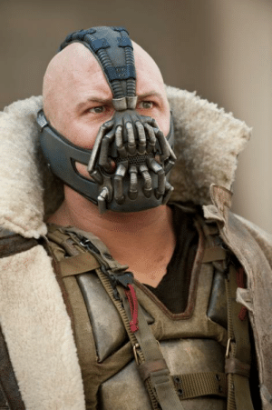 In The Dark Knight Rises (2012), Tom Hardy can be seen wearing a face mask on set, in accordance with CDC guidelines of how to help reduce the spread of COVID-19.: In The Dark Knight Rises (2012), Tom Hardy can be seen wearing a face mask on set, in accordance with CDC guidelines of how to help reduce the spread of COVID-19.
