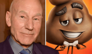 Emoji, Poop, and Shit: In The Emoji Movie, Sir Patrick Stewart plays the poop emoji. This is reference to the fact that despite all the fame, awards and even becoming a knight, an actor will play a piece of shit of you pay them enough.