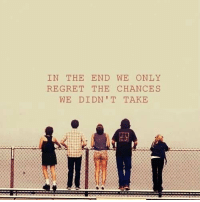 Memes, Regret, and 🤖: IN THE END WE ONLY  REGRET THE CHANCES  WE DIDN'T TAKE The Perks of Being a Wallflower https://t.co/5mdGiqdgHh