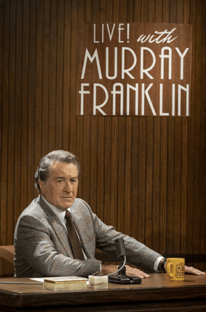 In the film 'Joker' (2019) the fictional talk show Live! with Murray Franklin was the inspiration for the real life talk show Jimmy Kimmel Live.: In the film 'Joker' (2019) the fictional talk show Live! with Murray Franklin was the inspiration for the real life talk show Jimmy Kimmel Live.
