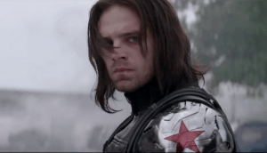 In the film Captain America: The Winter Soldier, the soldier does not respond to the name Bucky. This is due to the fact that he was embarrassed because Bucky is a pretty stupid name.: In the film Captain America: The Winter Soldier, the soldier does not respond to the name Bucky. This is due to the fact that he was embarrassed because Bucky is a pretty stupid name.