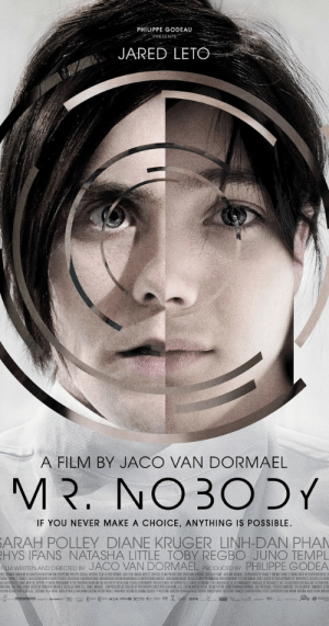 In the film Mr. Nobody (2009), Jared Leto interprets Mr. Nobody, this is a reference to the fact that nobody saw this film.: In the film Mr. Nobody (2009), Jared Leto interprets Mr. Nobody, this is a reference to the fact that nobody saw this film.