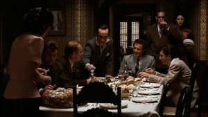 In The Godfather Part II (1974) Marlon Brando was originally supposed to reprise his role in the final flashback scene. But due to a financial dispute with the studio, he didn't appear and Francis Ford Coppola rewrote the scene without him.: In The Godfather Part II (1974) Marlon Brando was originally supposed to reprise his role in the final flashback scene. But due to a financial dispute with the studio, he didn't appear and Francis Ford Coppola rewrote the scene without him.