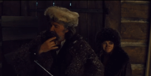 """In The Hateful Eight (2015) when """"Oswaldo Mobray"""" first greets Daisy, you can see her stifling a laugh at the sight of her friend playing such a posh character with such over-exaggerated reactions.: In The Hateful Eight (2015) when """"Oswaldo Mobray"""" first greets Daisy, you can see her stifling a laugh at the sight of her friend playing such a posh character with such over-exaggerated reactions."""