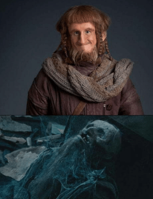 In The Hobbit, Ori is wearing the same scarf that he has in The Fellowship of the Ring.: In The Hobbit, Ori is wearing the same scarf that he has in The Fellowship of the Ring.