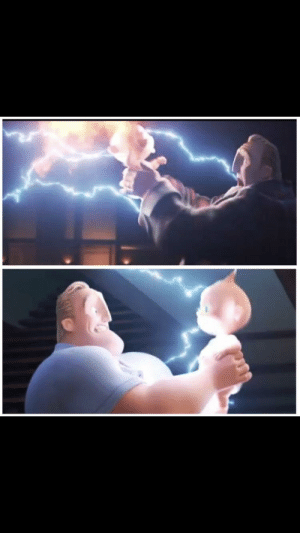 Clothes, The Incredibles, and Incredibles 2: In the Incredibles 2 teaser and final movie the same scene occurs in different locations with Mr. Incredible wearing different clothes