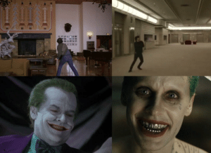 In The Kill (2007) music video Jared Leto plays the role of Jack from The Shining (1980). He would then play the Joker in Suicide Squad (2016), the same role Jack Nicholson played in Batman (1989). Both roles were 27 years apart. Jared Leto Stares in the movie Chapter 27 (2007). Coincidence....Yes: In The Kill (2007) music video Jared Leto plays the role of Jack from The Shining (1980). He would then play the Joker in Suicide Squad (2016), the same role Jack Nicholson played in Batman (1989). Both roles were 27 years apart. Jared Leto Stares in the movie Chapter 27 (2007). Coincidence....Yes