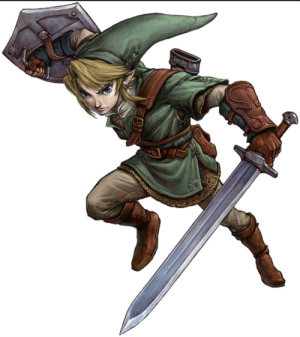 In The Legend of Zelda: Twilight Princess (2016) Link's dominant hand has an arm guard while his other hand does not. That's because it's already protected with his shield, therefore his dominant hand has some protection on it.: In The Legend of Zelda: Twilight Princess (2016) Link's dominant hand has an arm guard while his other hand does not. That's because it's already protected with his shield, therefore his dominant hand has some protection on it.