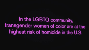 Being Alone, Community, and Pussy: In the LGBTQ community,  transgender women of color are at the  highest risk of homicide in the U.S. hotcheetoprincess: honestly every day is women's day but rest in power to the 7 transwomen who have already been murdered this year alone. you're corny as fuck if you make today some pussy power bullshit #STOPKILLINGTRANSWOMEN