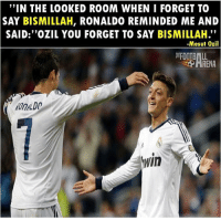 "Respect 👌🏻 ... 🔹FREE FOOTBALL EMOJI'S --> LINK IN OUR BIO!!! ➡️Credit: @thefootballarena: ""IN THE LOOKED ROOM WHEN I FORGET TO  SAY BISMILLAH, RONALDO REMINDED ME AND  SAID:""OZIL YOU FORGET TO SAY BISMILLAH.""  -Mesut Ozil  FOOTBALL  HRENA  OnDO  In Respect 👌🏻 ... 🔹FREE FOOTBALL EMOJI'S --> LINK IN OUR BIO!!! ➡️Credit: @thefootballarena"