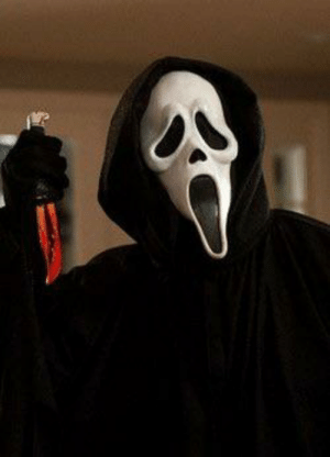 """Movie, Ghostface, and Mask: In the movie """"scream 2"""" ghostface uses the same mask used by the killer of """"scream"""". This is a reference to the movie """"scream 3"""" that wouldn't be out until later"""