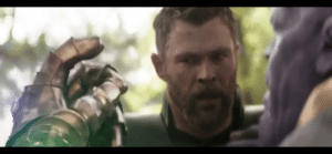 """In the movie Avengers Infinity War, Thanos says Thor should've gone for the head. This a subtle hint at """"Thor"""" shadowing.: In the movie Avengers Infinity War, Thanos says Thor should've gone for the head. This a subtle hint at """"Thor"""" shadowing."""