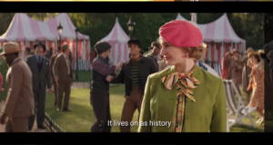 """In the movie """"Mary Poppins Returns"""", in one of the many musical numbers, Lin Manuel Miranda sings this line, a refrence to the history focused musical made by the aforementioned artist, called """"Hamilton"""": In the movie """"Mary Poppins Returns"""", in one of the many musical numbers, Lin Manuel Miranda sings this line, a refrence to the history focused musical made by the aforementioned artist, called """"Hamilton"""""""