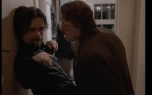 """In the movie """"Tiptoe"""" 2003, Gary Oldman plays a little person by being on his knees. Next to him is Peter Dinklage who too is on his knees.: In the movie """"Tiptoe"""" 2003, Gary Oldman plays a little person by being on his knees. Next to him is Peter Dinklage who too is on his knees."""