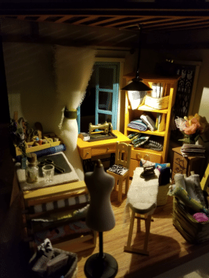 In the name of tiny things- I made my mother a miniature sewing studio for Christmas. Her face was everything.: In the name of tiny things- I made my mother a miniature sewing studio for Christmas. Her face was everything.