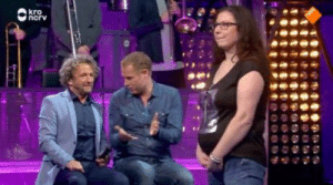In the Netherlands, there is a new TV show where guys guess if a girl is fat or pregnant. Very dangerous.: In the Netherlands, there is a new TV show where guys guess if a girl is fat or pregnant. Very dangerous.