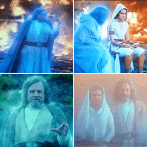In The Rise of Skywalker (2019) ghost Luke's hand, that was severed by Darth Vader, is never shown. It remains hidden under his robe or out of the shot his entire screen time. Do force ghosts regain their lost limbs? Does Luke have a robot ghost arm under there? We may never know...: In The Rise of Skywalker (2019) ghost Luke's hand, that was severed by Darth Vader, is never shown. It remains hidden under his robe or out of the shot his entire screen time. Do force ghosts regain their lost limbs? Does Luke have a robot ghost arm under there? We may never know...