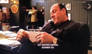 """In The Sopranos, Sil hands Tony a note with an address he wrote to read out to Pauly.. but if you look closely through the note it says """"Dick"""". Van Zant is a goof! LOL Gandolfini doesn't even break character.: In The Sopranos, Sil hands Tony a note with an address he wrote to read out to Pauly.. but if you look closely through the note it says """"Dick"""". Van Zant is a goof! LOL Gandolfini doesn't even break character."""