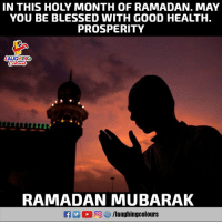 Blessed, Good, and Ramadan: IN THIS HOLY MONTH OF RAMADAN. MAY  YOU BE BLESSED WITH GOOD HEALTH.  PROSPERITY  AUGHING  Celouss  RAMADAN MUBARAK  R 0回妙/laughingcol ours
