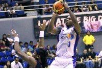 Blaze, Miguel, and Rain: in this photo, AZ Reid was still playing for the Rain or Shine while Elijah Millsap is with the Petron Blaze (now San Miguel Beermen).  - LabsKoh2